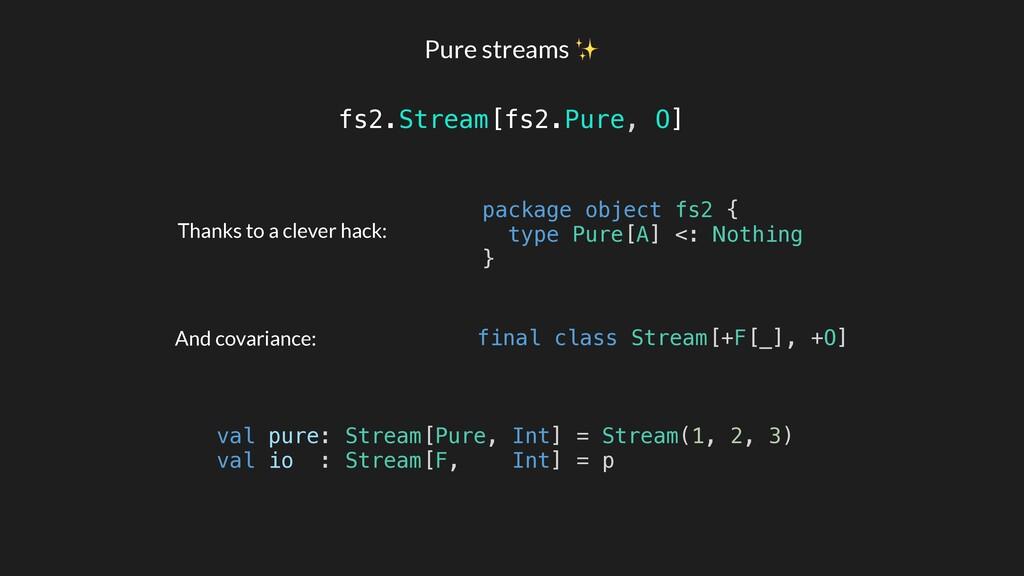 Pure streams ✨ fs2.Stream[fs2.Pure, O] package ...