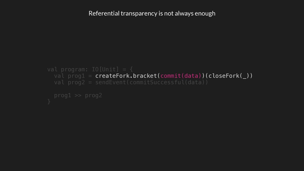 Referential transparency is not always enough v...