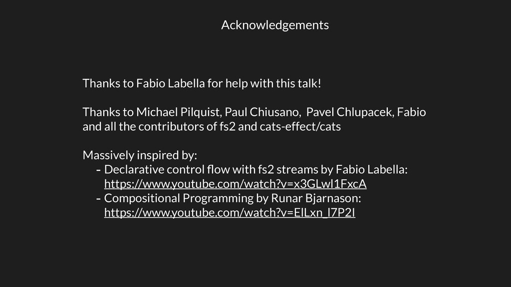 Acknowledgements Thanks to Fabio Labella for he...