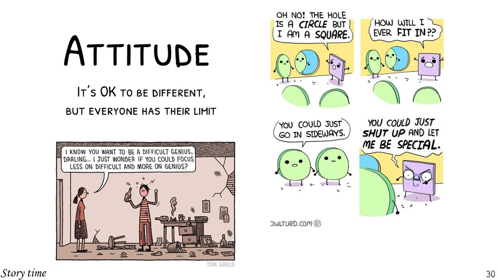 Attitude It's OK to be different, but everyone ...