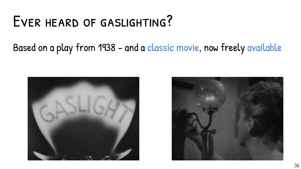 Ever heard of gaslighting? Based on a play from...