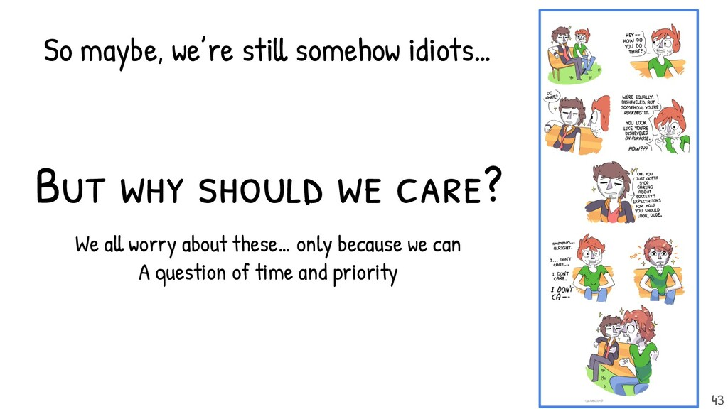 But why should we care? We all worry about thes...