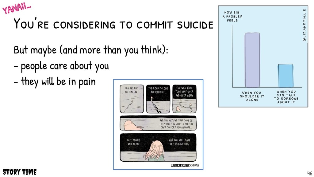 You're considering to commit suicide But maybe ...