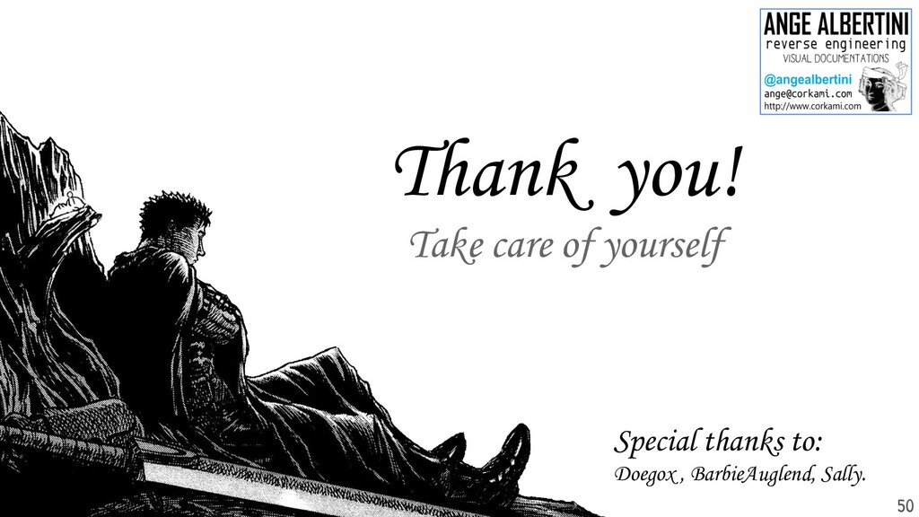 Thank you! Take care of yourself 50 Special tha...
