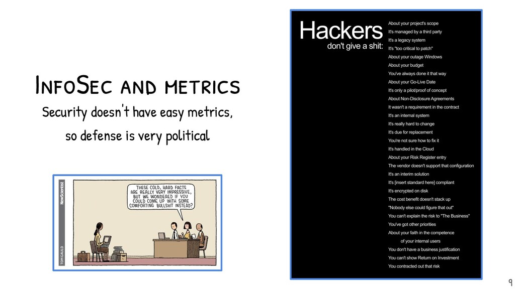 InfoSec and metrics Security doesn't have easy ...