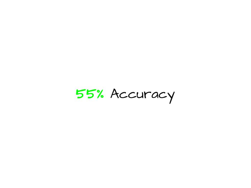 55% Accuracy