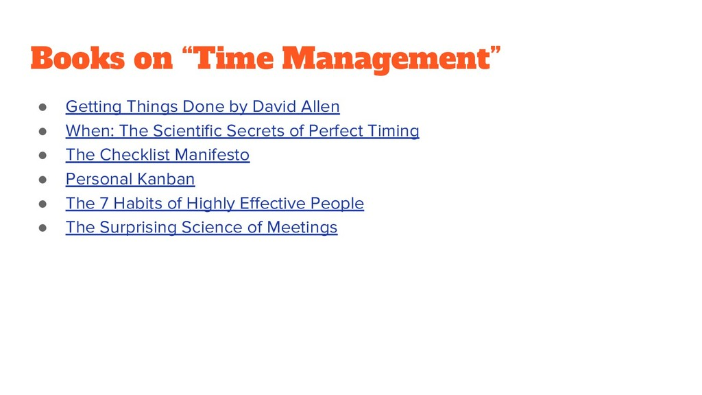 "Books on ""Time Management"" ● Getting Things Don..."