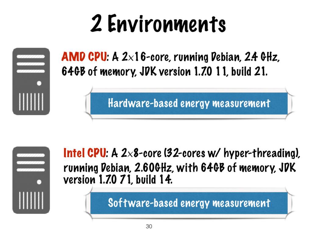 2 Environments AMD CPU: A 2×16-core, running De...