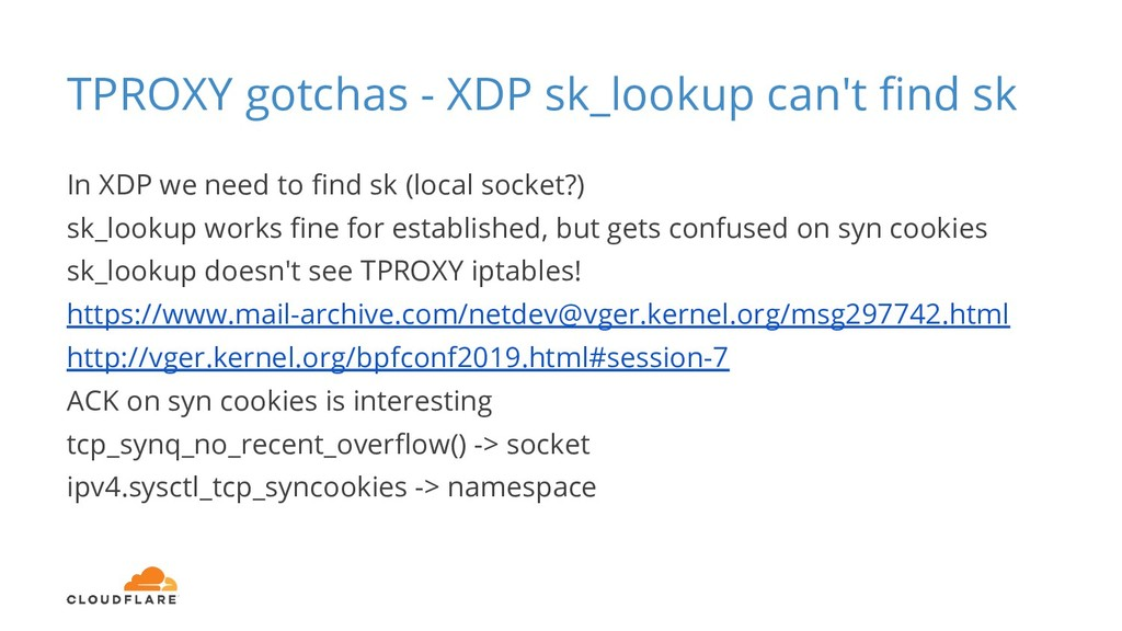 TPROXY gotchas - XDP sk_lookup can't find sk In ...
