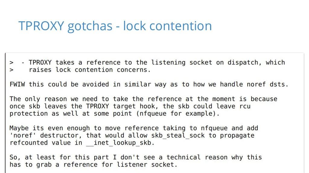 TPROXY gotchas - lock contention