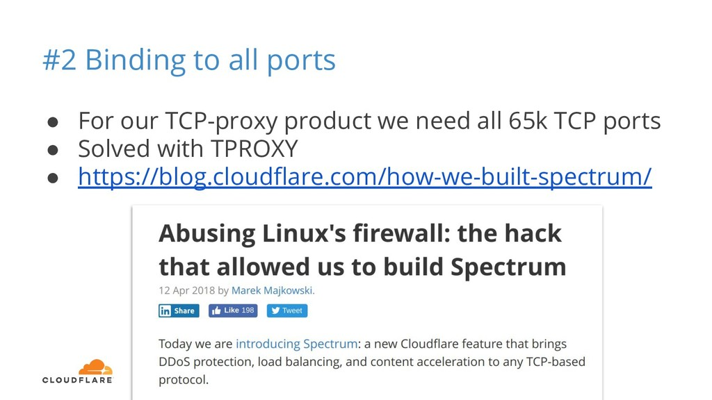 #2 Binding to all ports ● For our TCP-proxy pro...