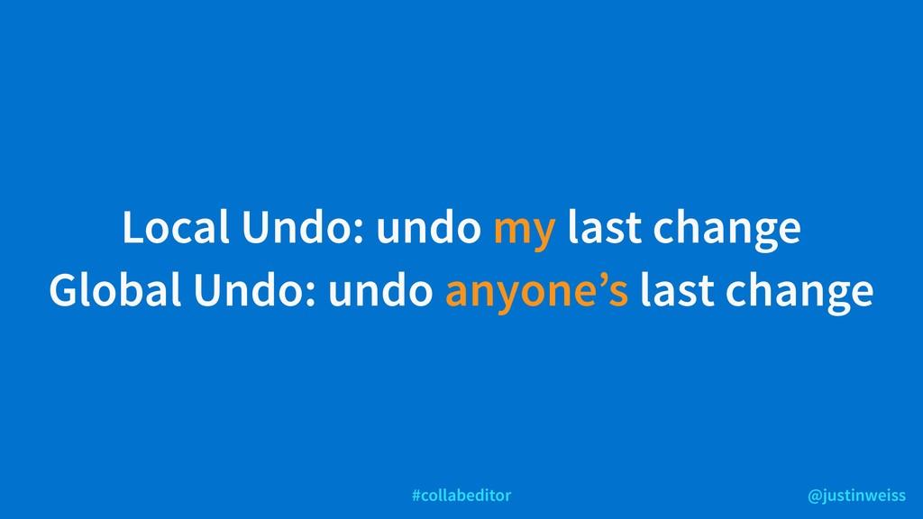 @justinweiss #collabeditor Local Undo: undo my ...
