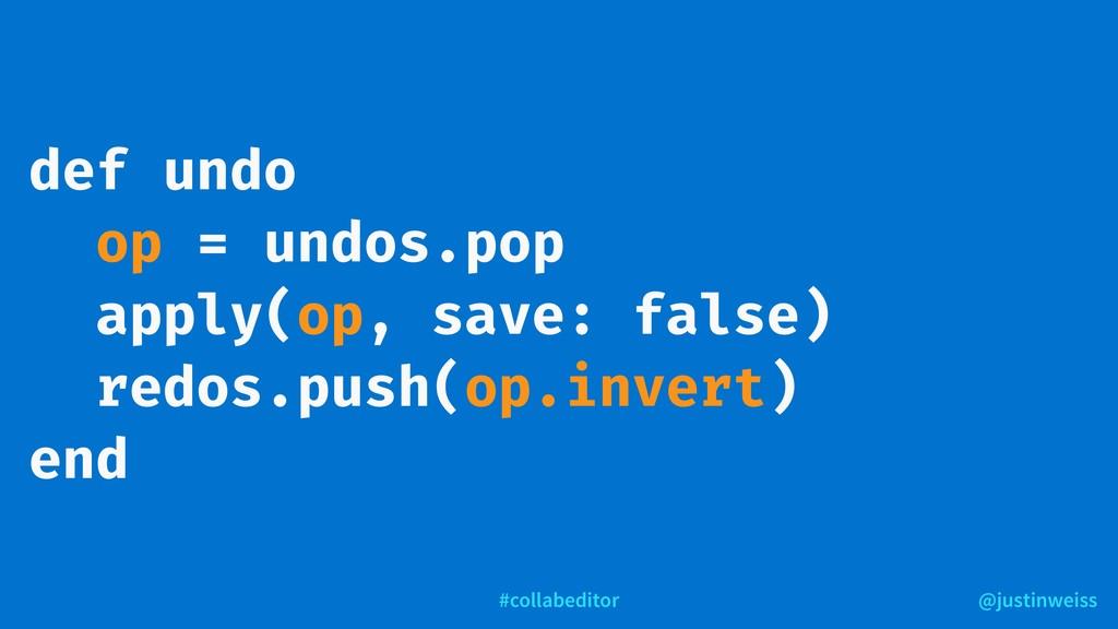 @justinweiss #collabeditor def undo op = undos....