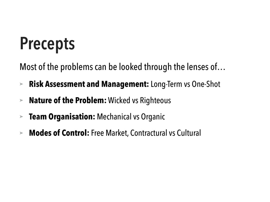 Precepts Most of the problems can be looked thr...