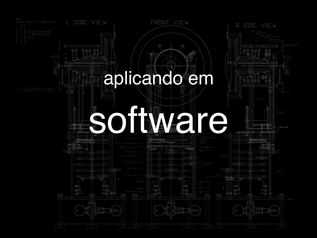 software aplicando em