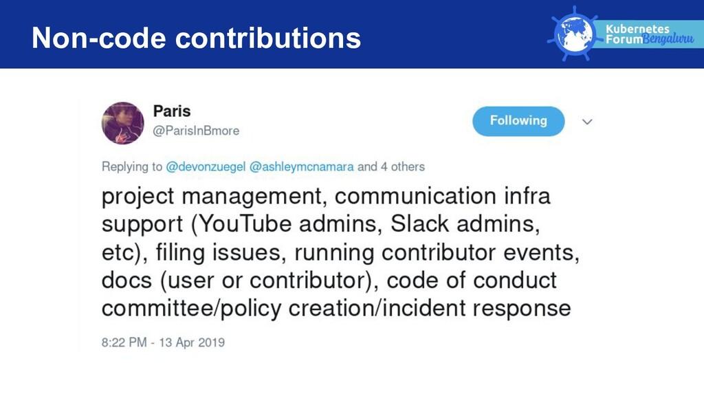 Non-code contributions