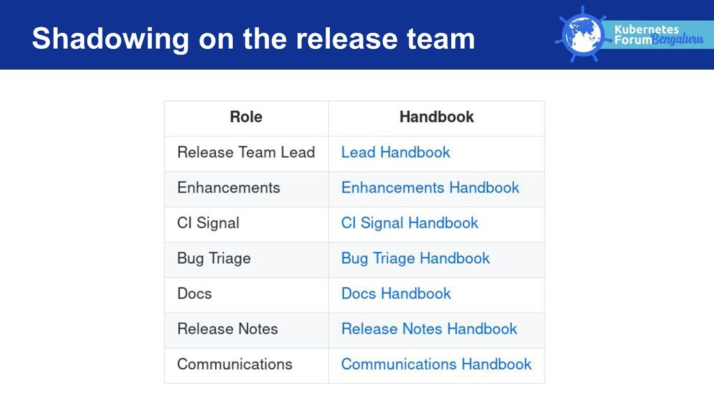 Shadowing on the release team