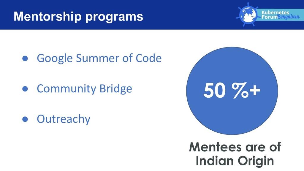 Mentorship programs ● Google Summer of Code ● C...