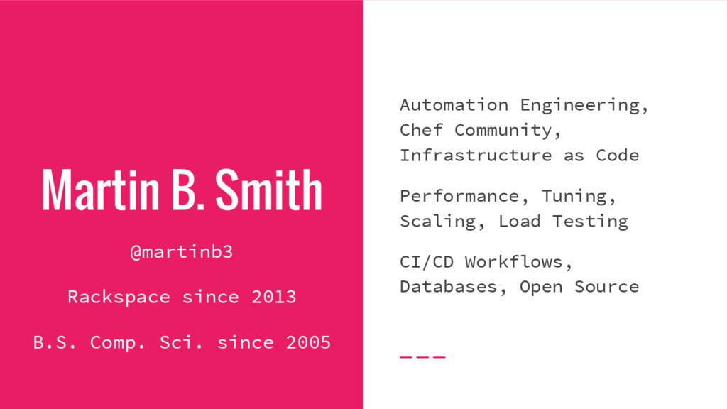 Martin B. Smith Automation Engineering, Chef Co...