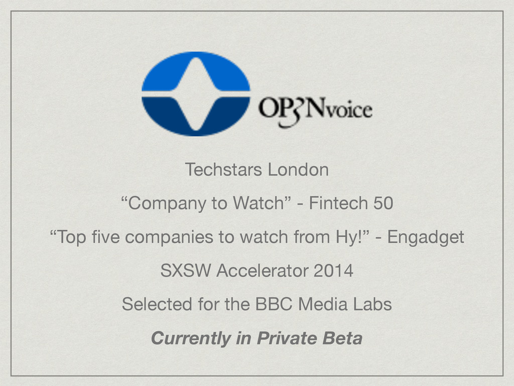 "Techstars London  ""Company to Watch"" - Fintech ..."