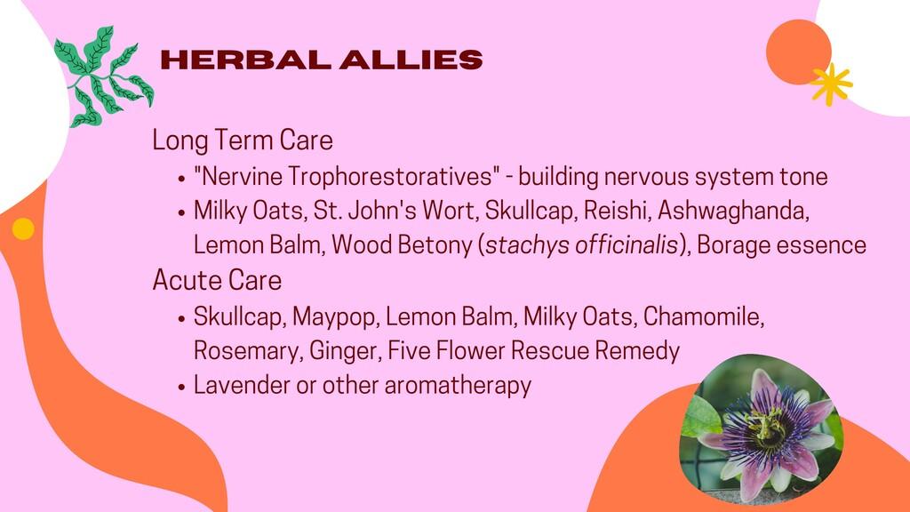 """""""Nervine Trophorestoratives"""" - building nervous..."""