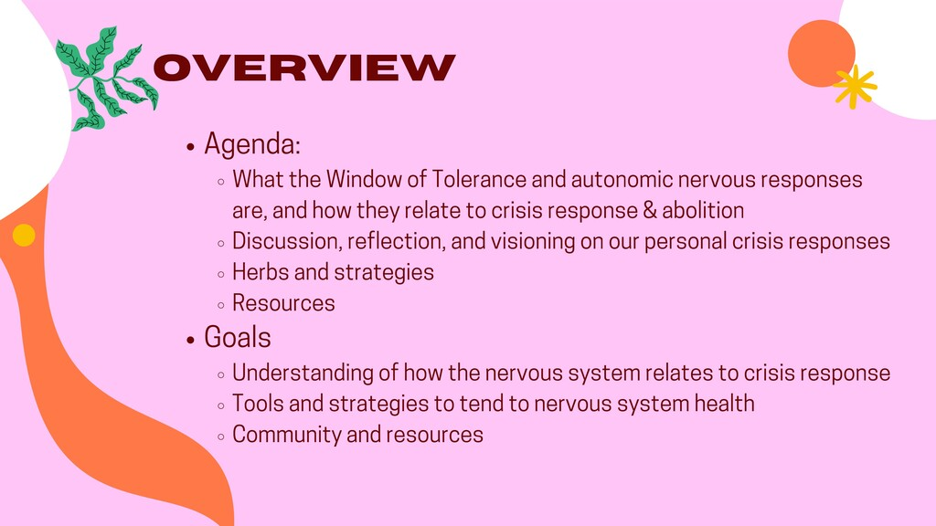 Overview Agenda: What the Window of Tolerance a...