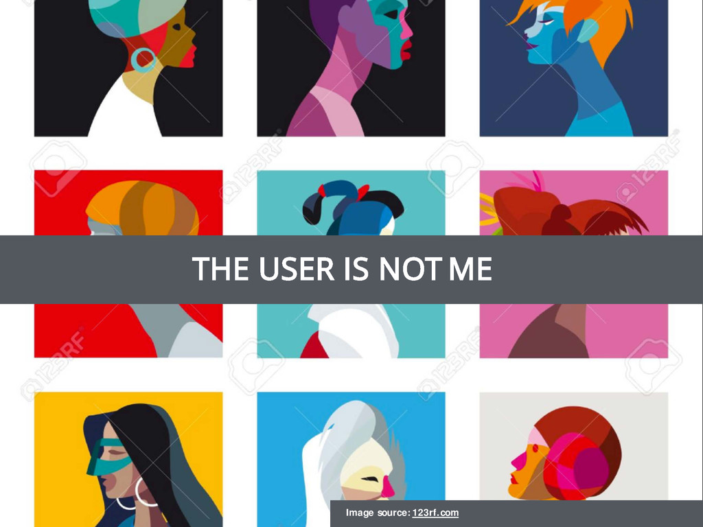 THE USER IS NOT ME Image source: 123rf.com