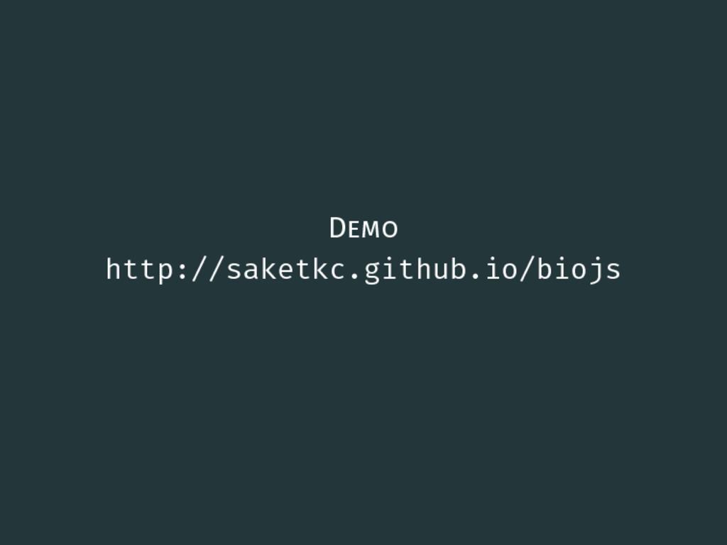 Demo http://saketkc.github.io/biojs 8