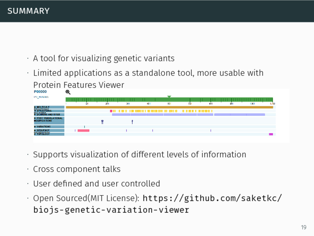 summary ∙ A tool for visualizing genetic varian...