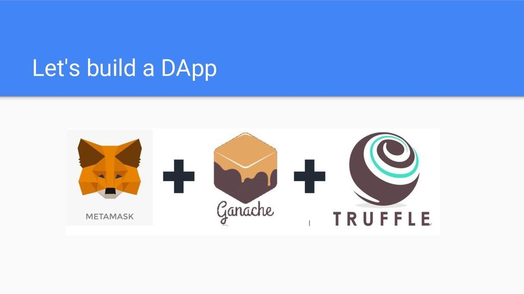 Let's build a DApp