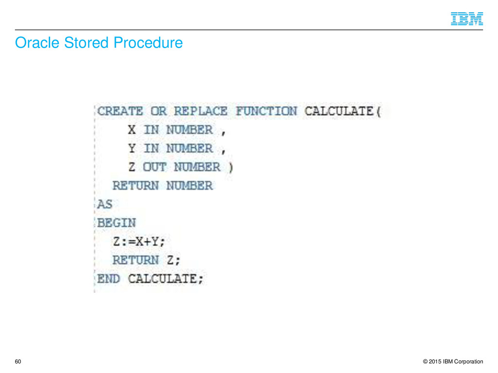 © 2015 IBM Corporation Oracle Stored Procedure ...