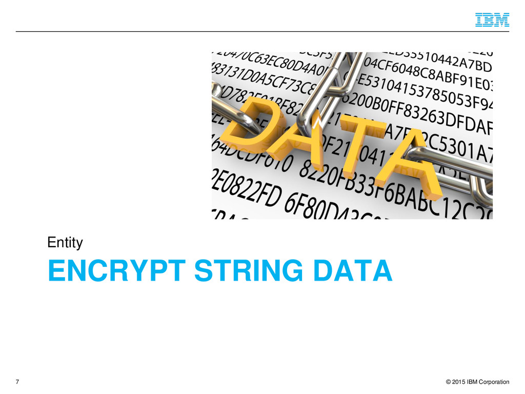 © 2015 IBM Corporation ENCRYPT STRING DATA Enti...