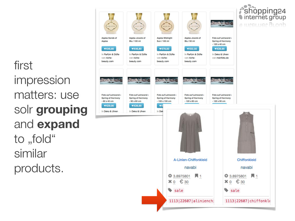 first impression matters: use solr grouping and ...