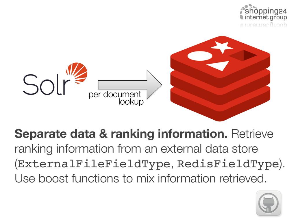 Separate data & ranking information. Retrieve r...