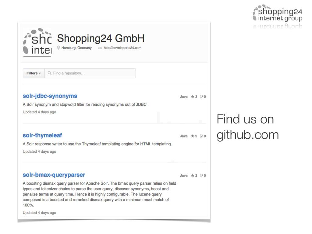 Find us on github.com