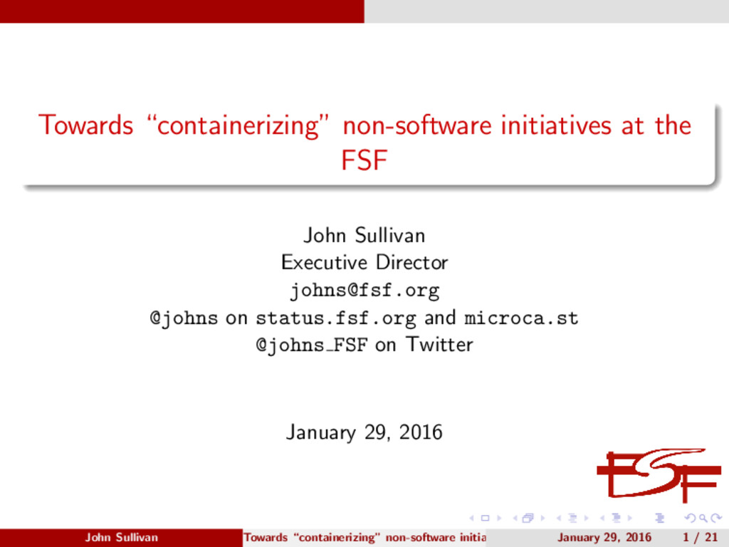 "Towards ""containerizing"" non-software initiativ..."