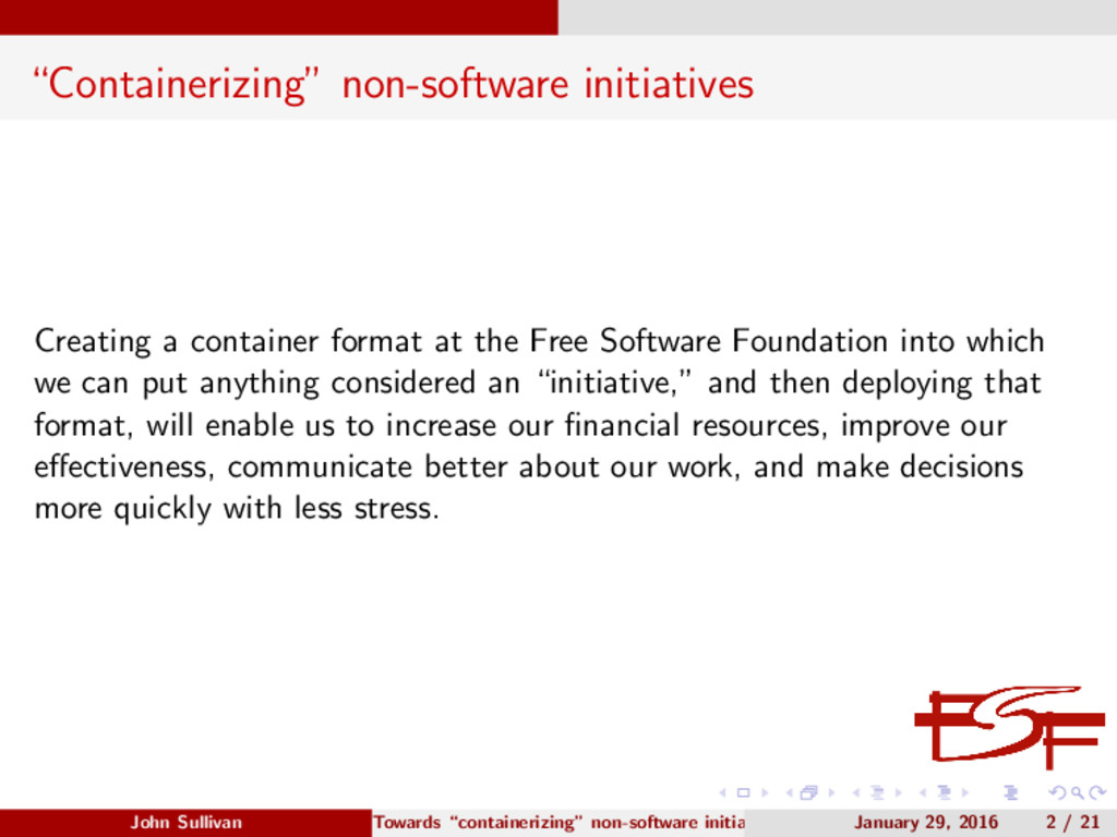 """Containerizing"" non-software initiatives Creat..."