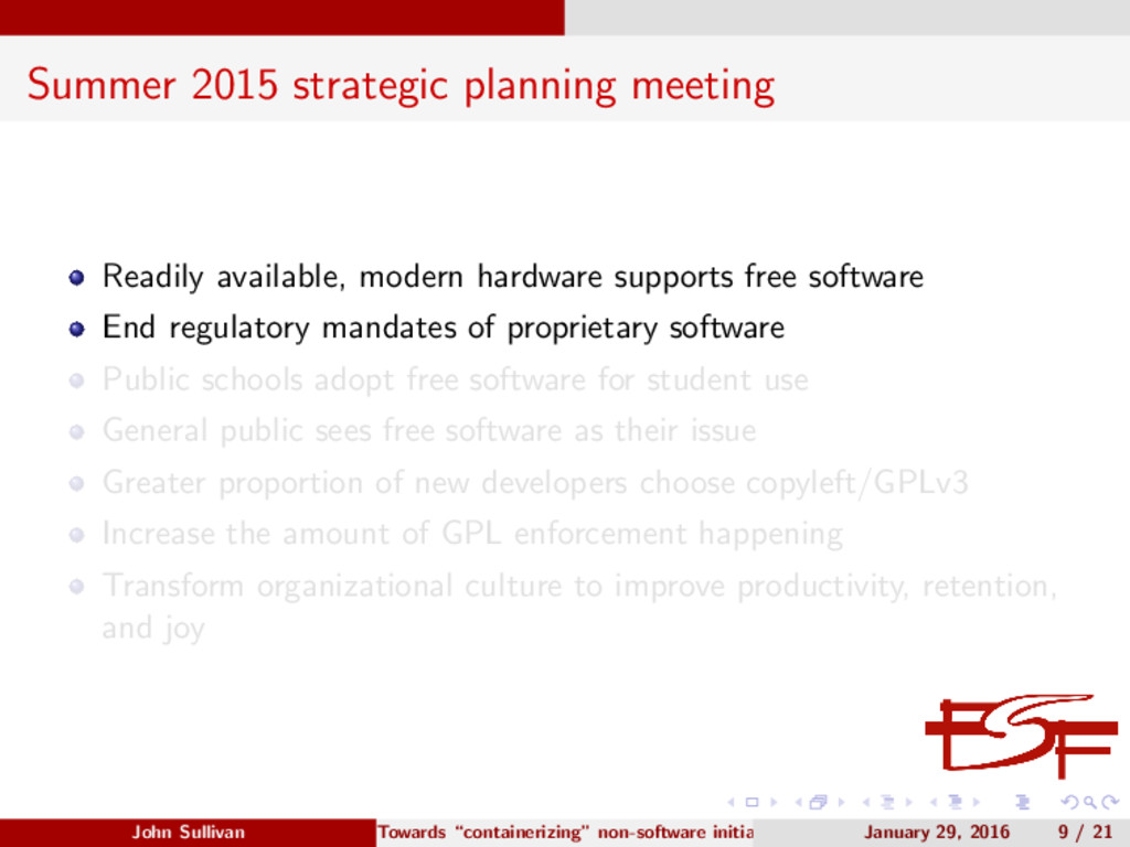 Summer 2015 strategic planning meeting Readily ...