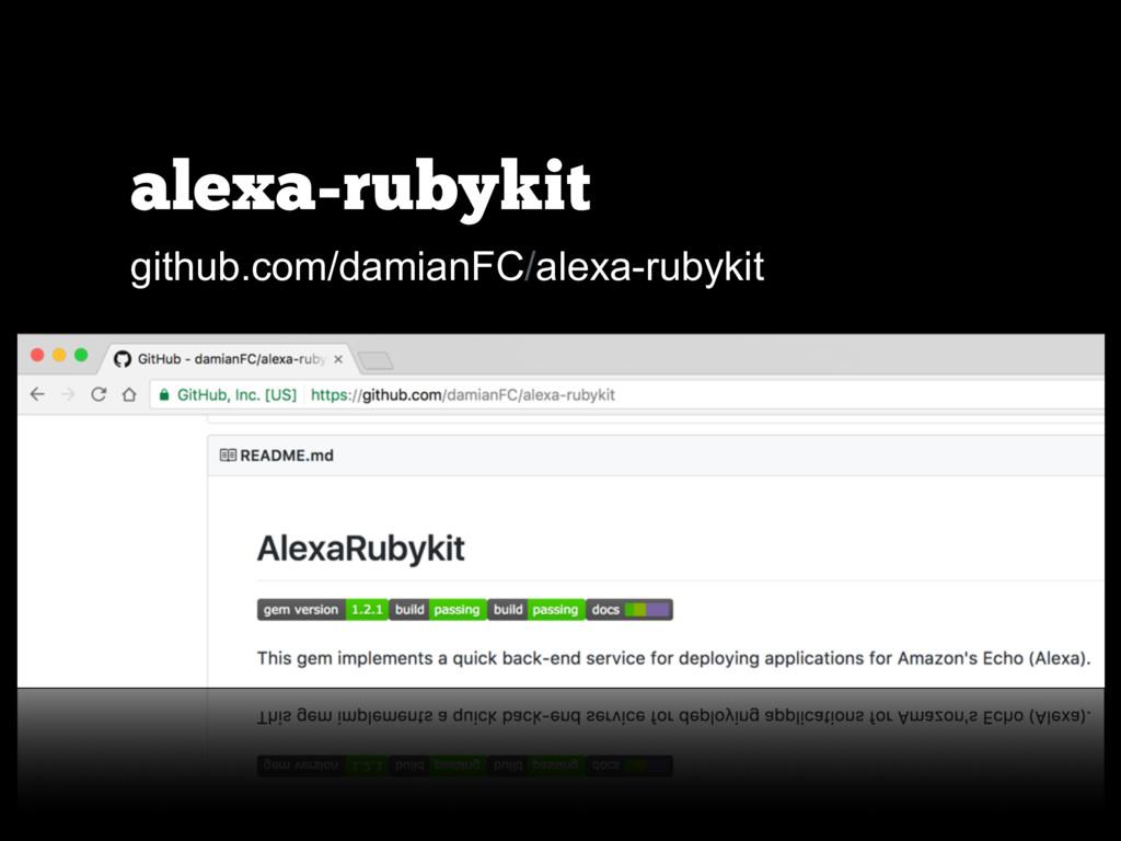 alexa-rubykit github.com/damianFC/alexa-rubykit