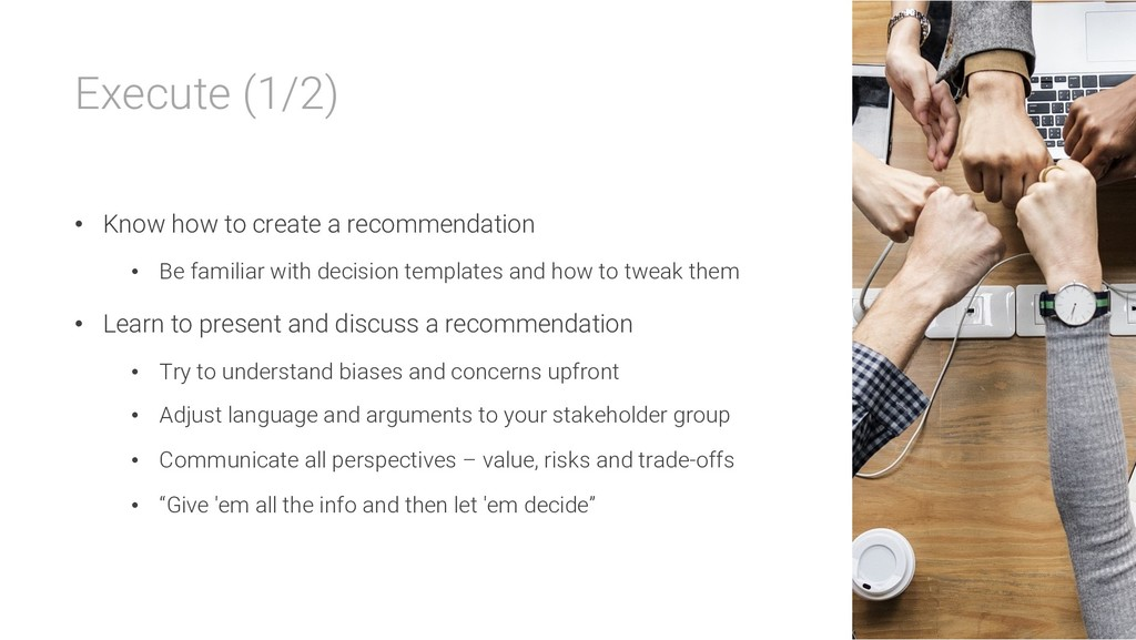 Execute (1/2) • Know how to create a recommenda...