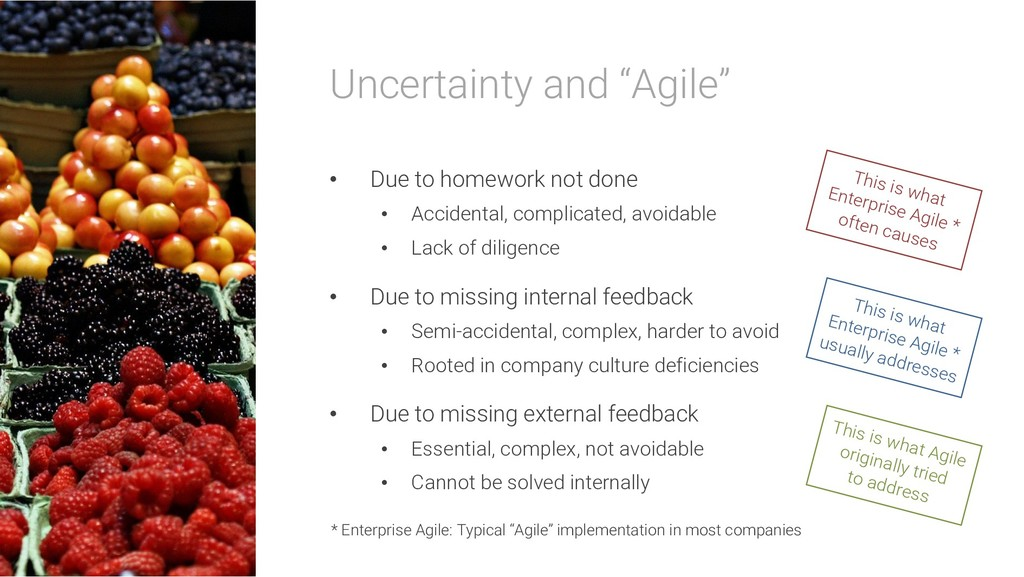 """Uncertainty and """"Agile"""" • Due to homework not d..."""
