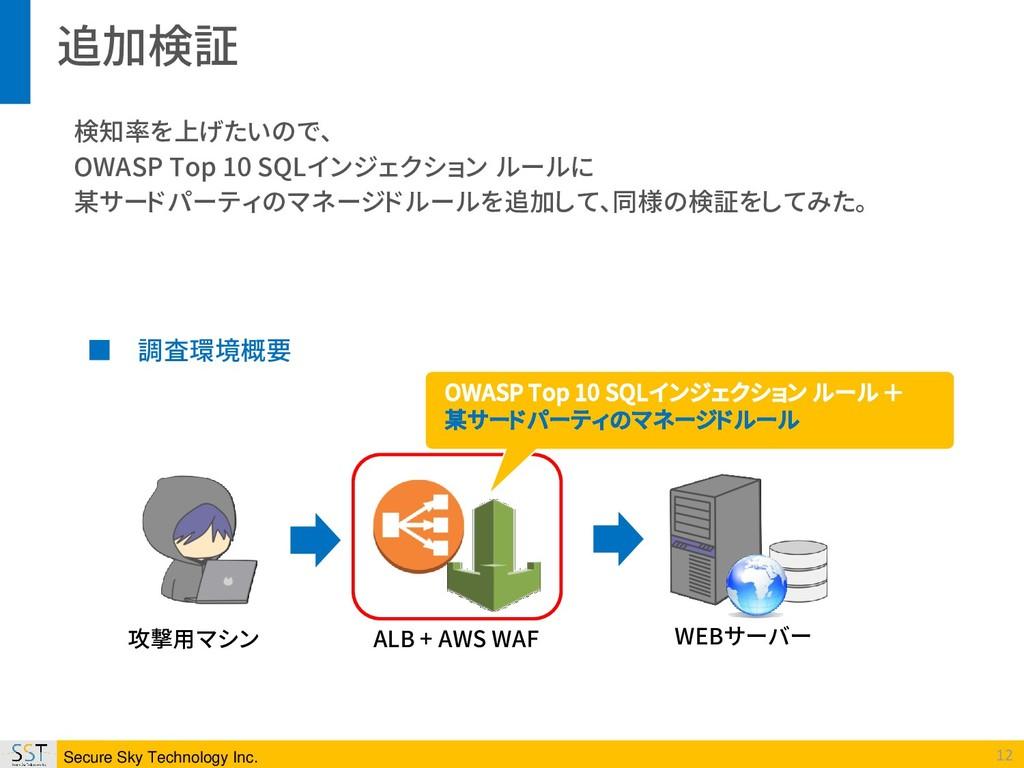 Secure Sky Technology Inc. 12 攻撃用マシン ALB + AWS ...