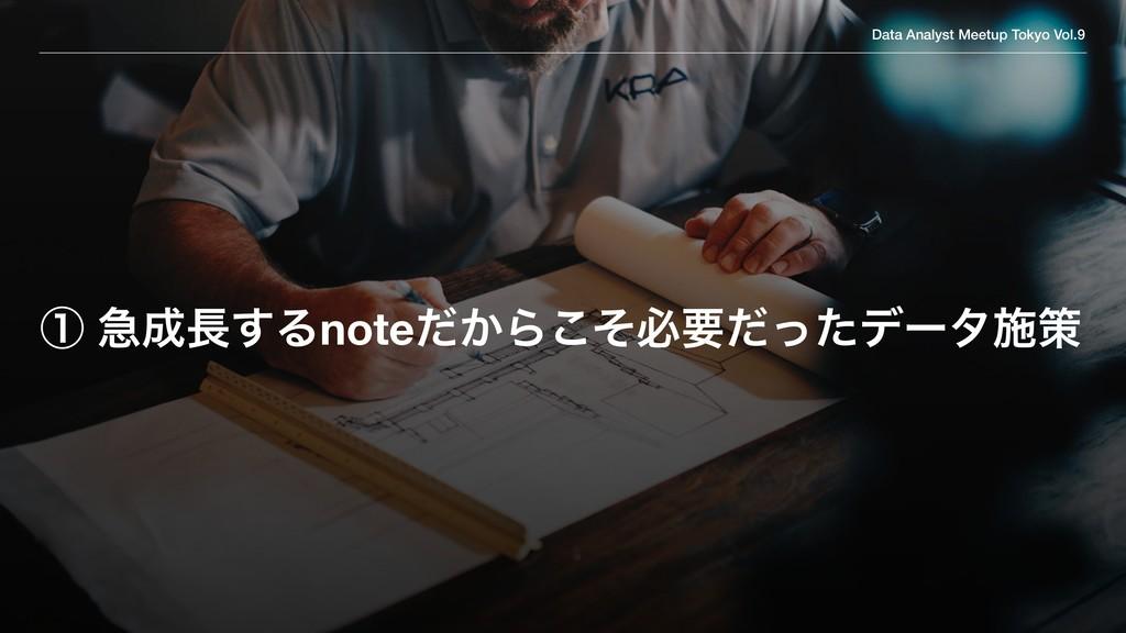 Data Analyst Meetup Tokyo Vol.9 ᶃ ٸ͢Δnote͔ͩΒ͜...