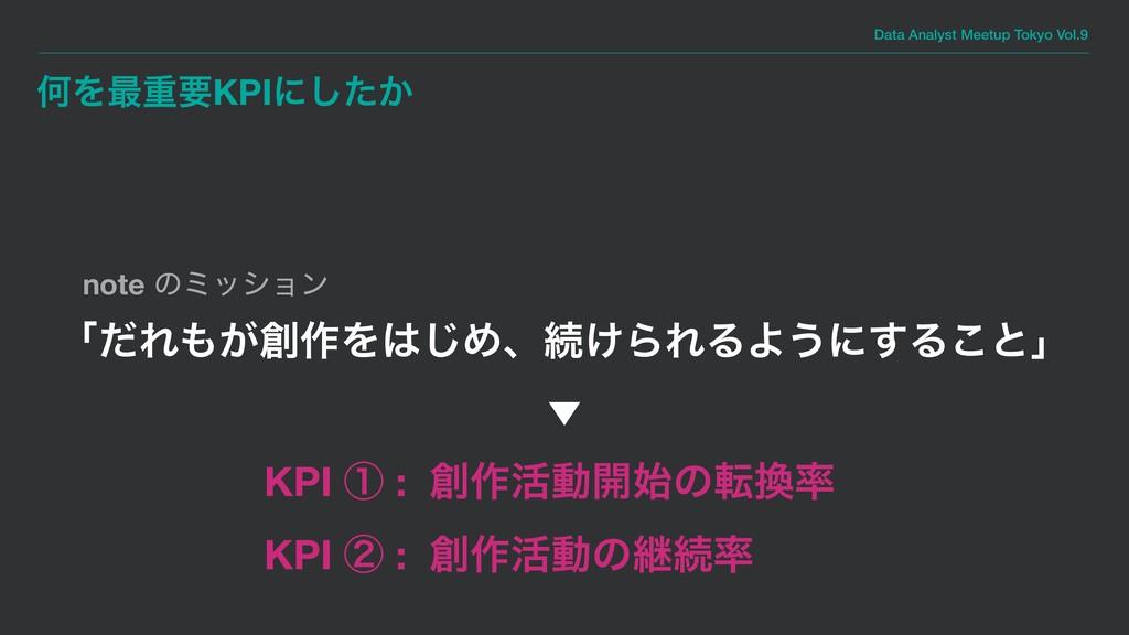 Data Analyst Meetup Tokyo Vol.9 ԿΛ࠷ॏཁKPIʹ͔ͨ͠ KP...