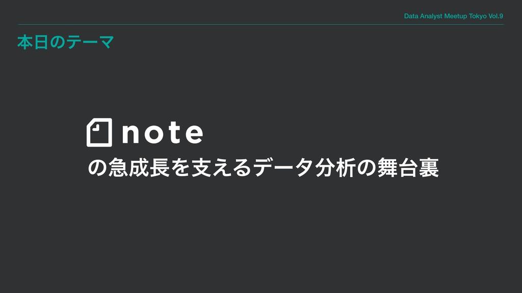 Data Analyst Meetup Tokyo Vol.9 ຊͷςʔϚ ͷٸΛࢧ͑Δ...