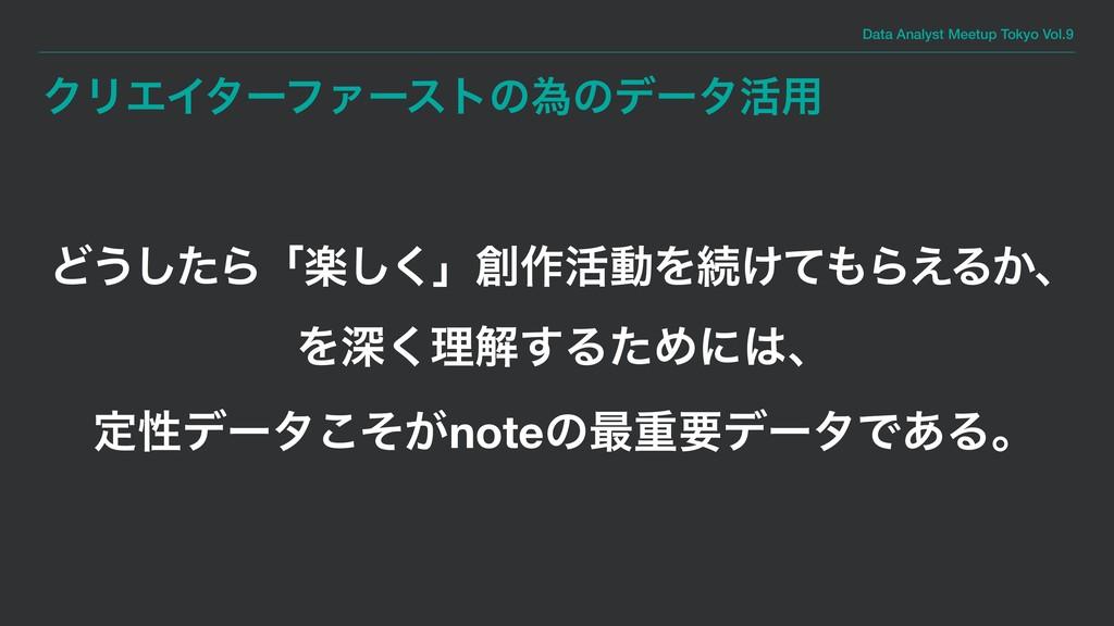 Data Analyst Meetup Tokyo Vol.9 ΫϦΤΠλʔϑΝʔετͷҝͷσ...