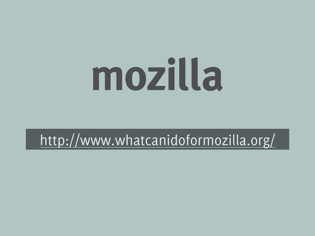 http://www.whatcanidoformozilla.org/