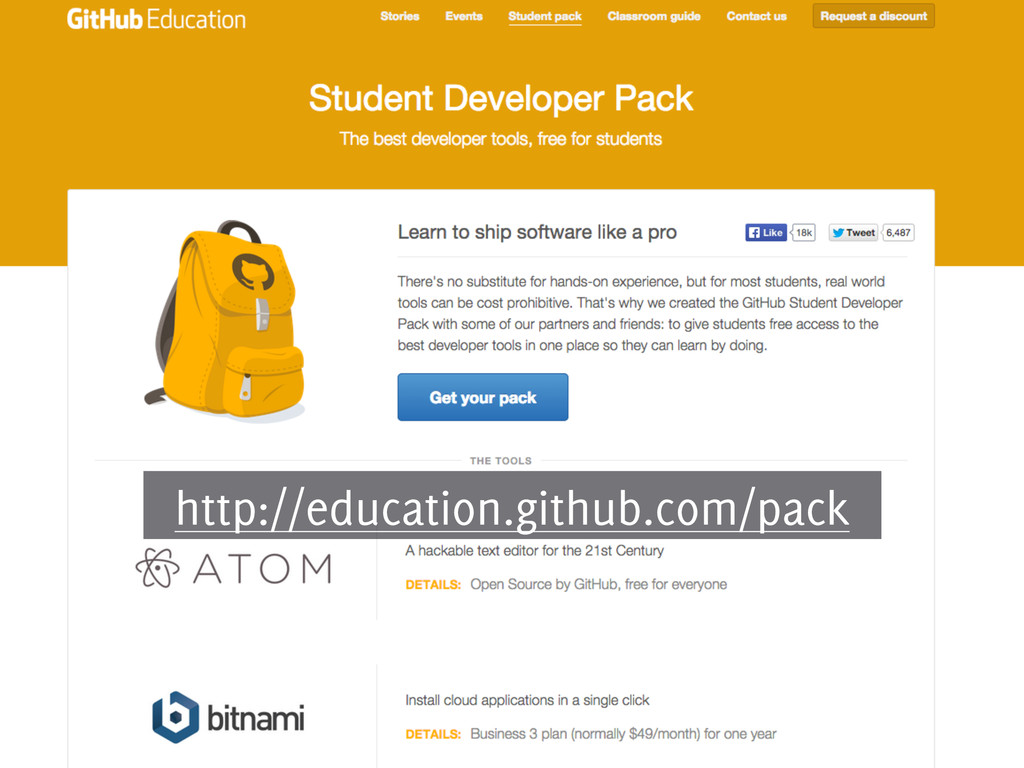 http://education.github.com/pack