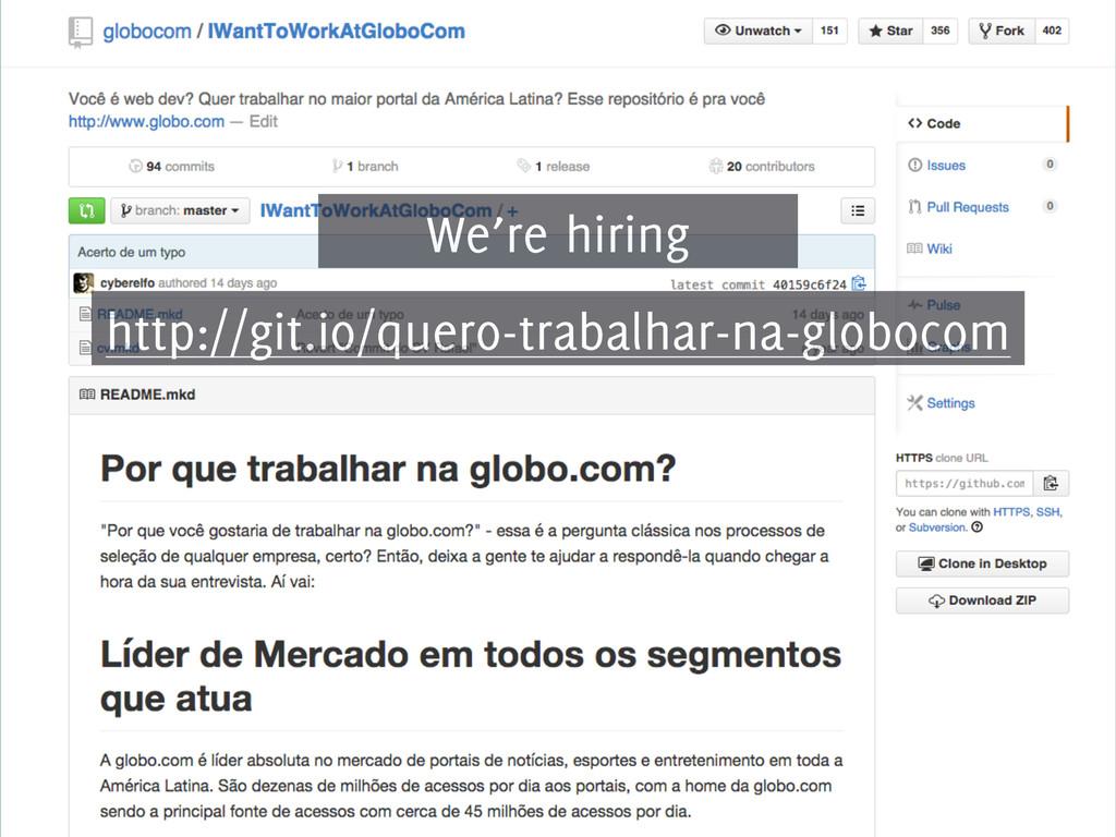 http://git.io/quero-trabalhar-na-globocom We're...