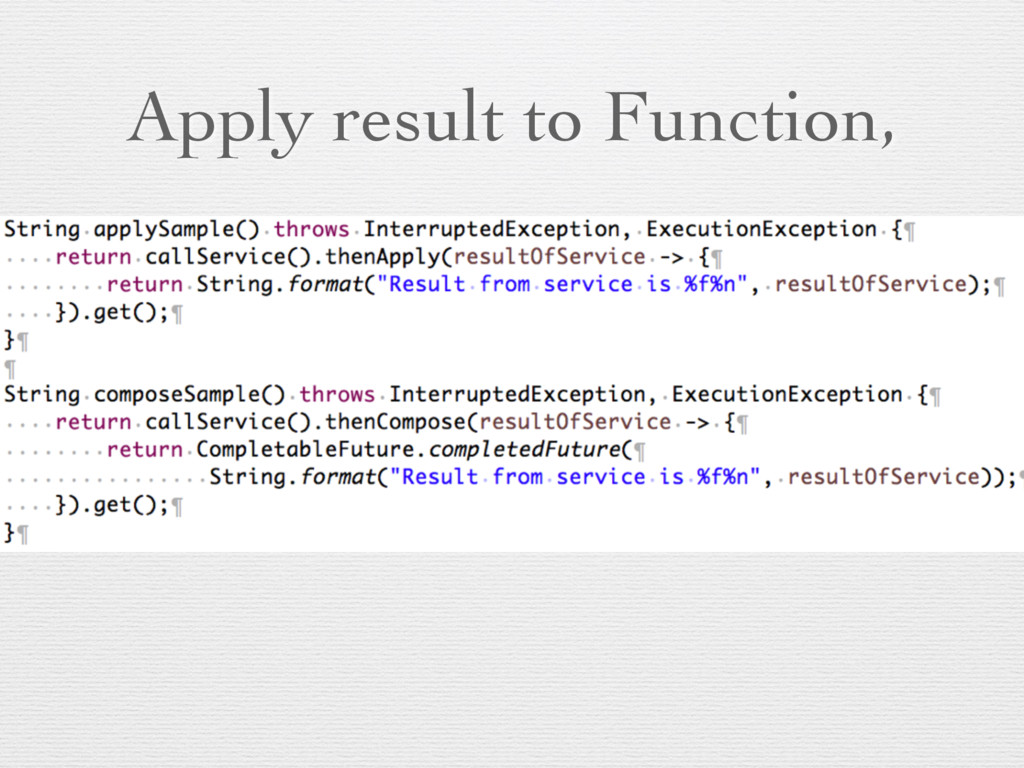 Apply result to Function,